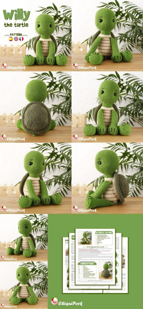 Amigurumi Crochet Patterns Etsy Designer Chiquipork - Amigurumi #amigurumi