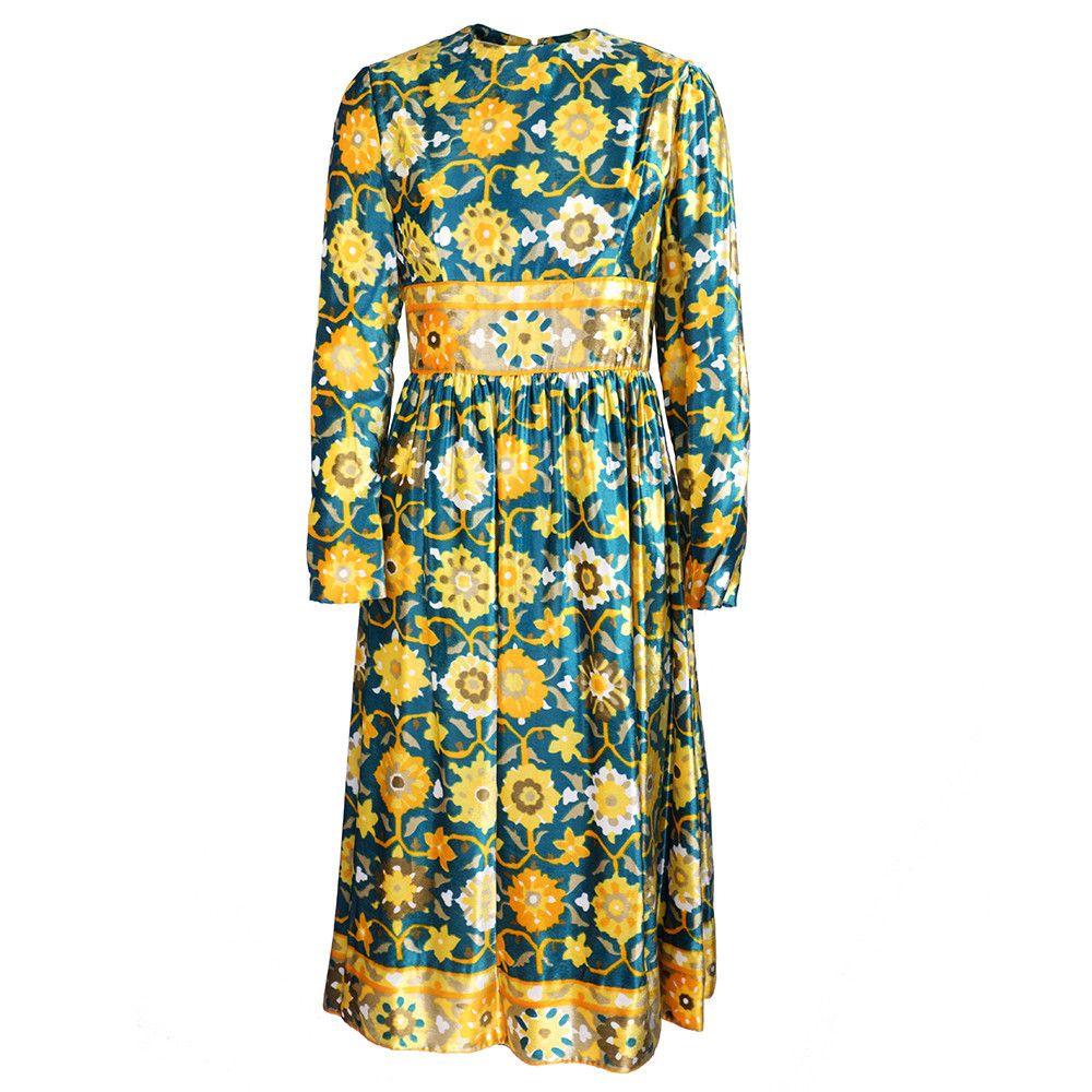 Vintage 70s Floral Velvet Dress – THE WAY WE WORE