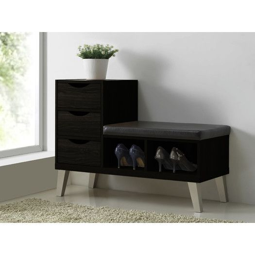 Wholesale Interiors Baxton Studio Arielle Upholstered Storage Entryway Bench