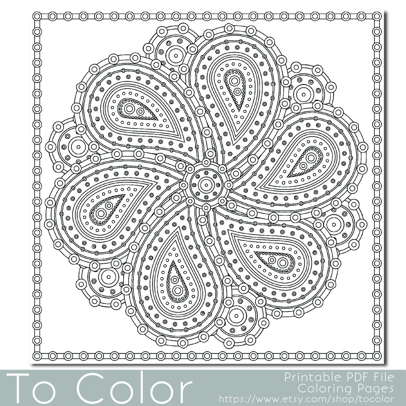 pinbabette wesley on coloring pages  paisley coloring
