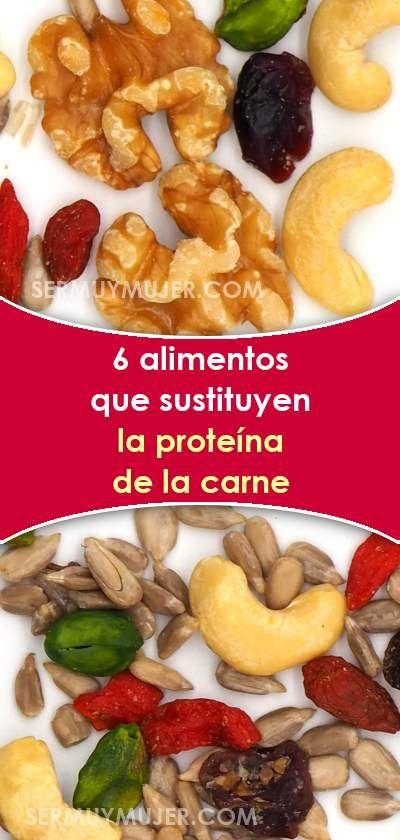 6 Alimentos Que Sustituyen La Proteína De La Carne Dietas Sustituir Carne Proteínas Saludable Comersano Food And Drink Food Snack Recipes