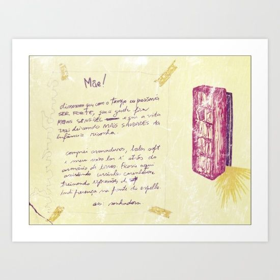A letter to mom Art Print