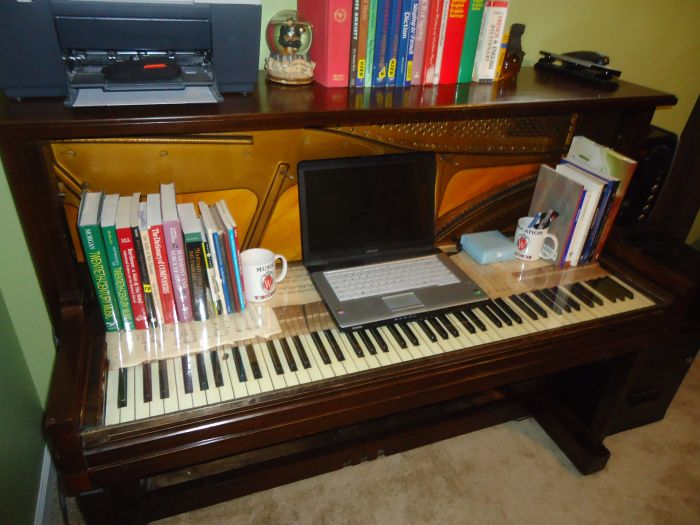 DIY- Computer Desk from an old upright piano   Diy computer