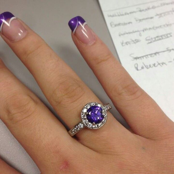Purple Nail Designs For Prom: Is It Bad To Want A Purple French Manicure For My Wedding