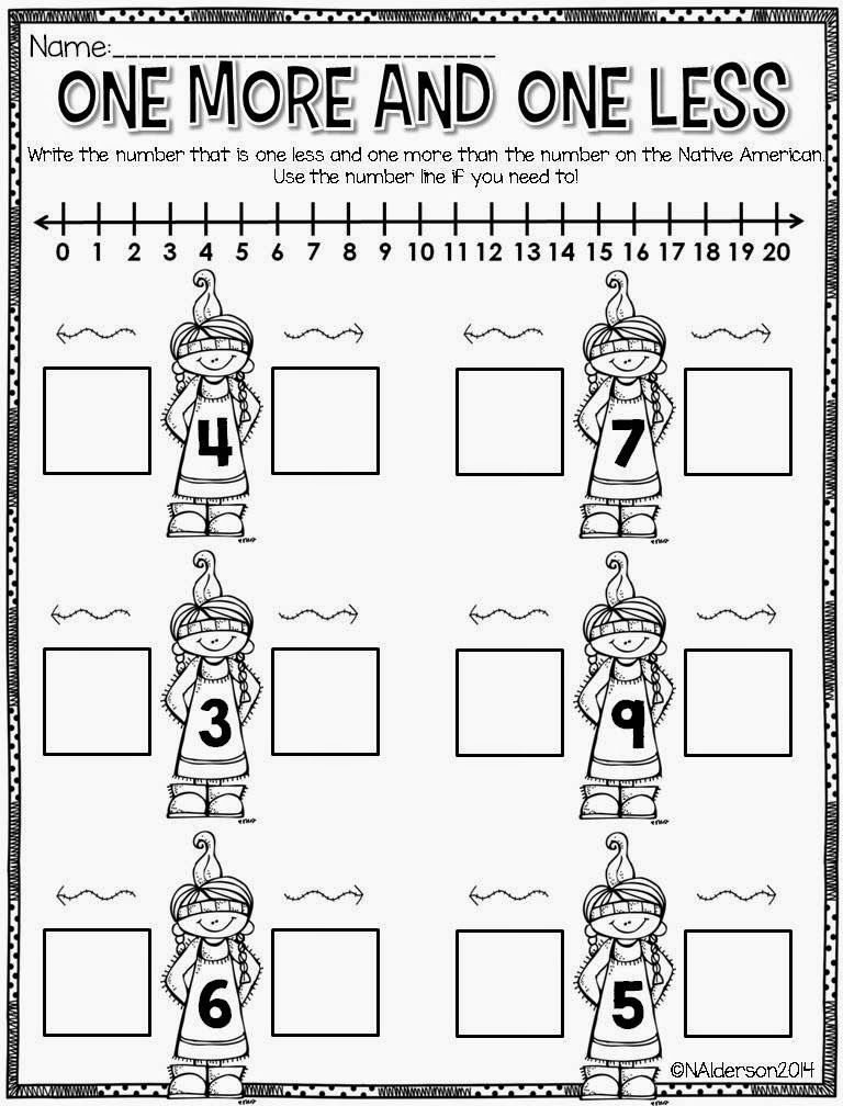 I love this math page! Such good number line practice! | KinderLand ...