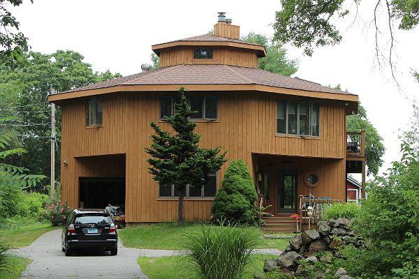 Octagon house plans home vintage blueprint design custom for Octagonal house plans