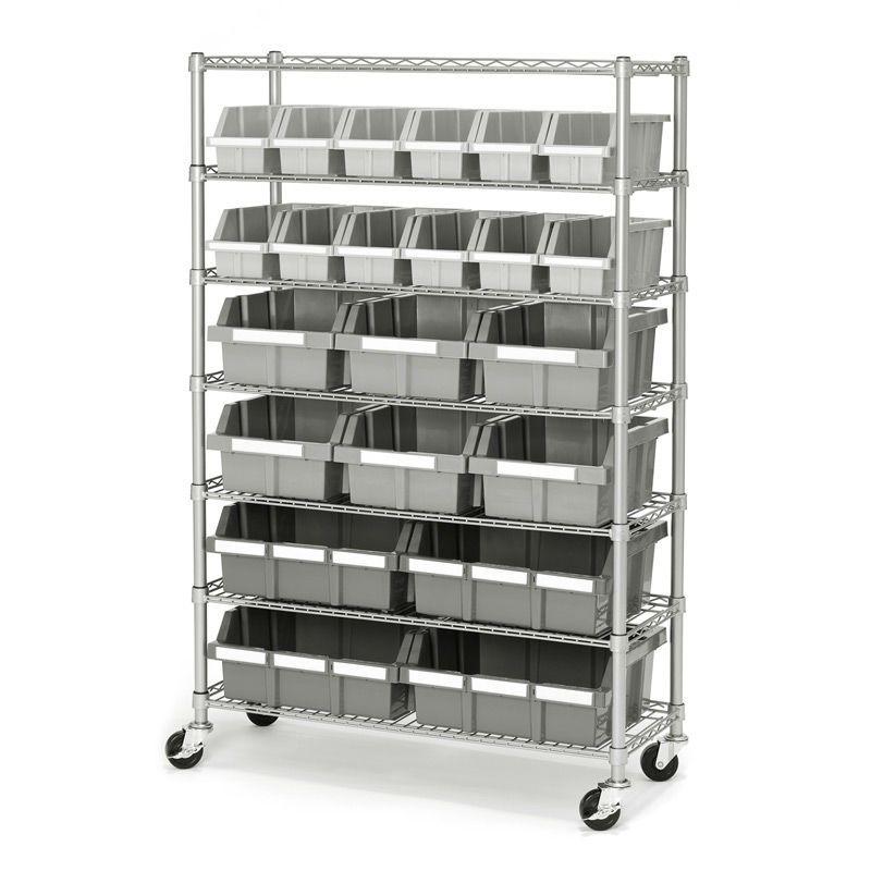 Commercial Storage Shelving 7 Tier Steel Bin Rack Bin Rack Storage Bin Racks Shelf Bins