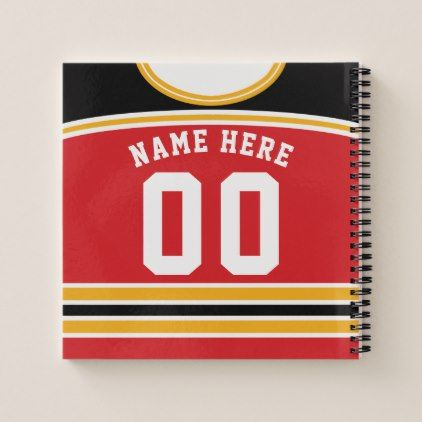 Customized Ice Hockey Jersey Template Notebook Zazzle Com Ice Hockey Jersey Hockey Jersey Ice Hockey