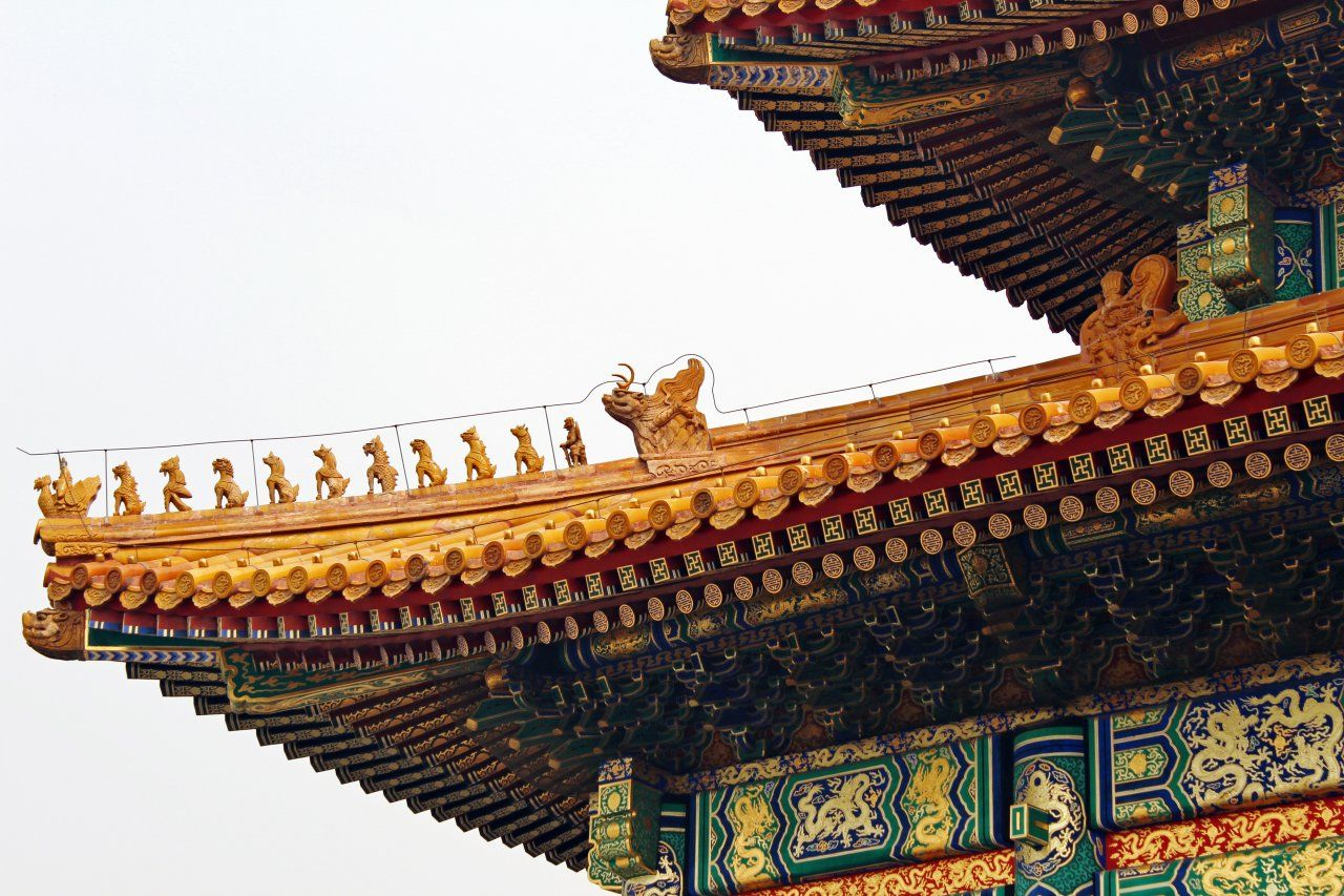 Chinese Architecture Roofs In Traditional Yellow Roof Tiles Were Reserved Exclusively For