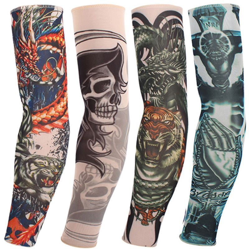 Apparel Accessories 1 Pair Mix Styles Temporary Fake Slip Tattoo Arm Sleeves Body Art Arm Leg Stockings Drop Ship #