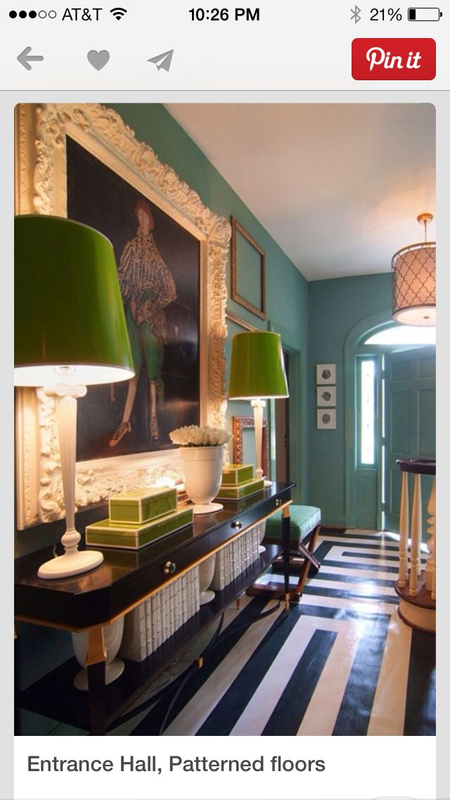 entrance hall patterned floors green black and white for the rh pinterest com