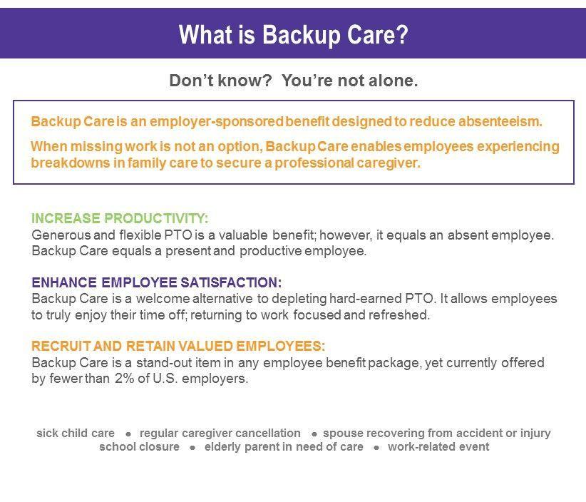 backupcare employeebenefits childcare seniorcare