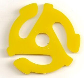remember these?? The 45 record adapter!