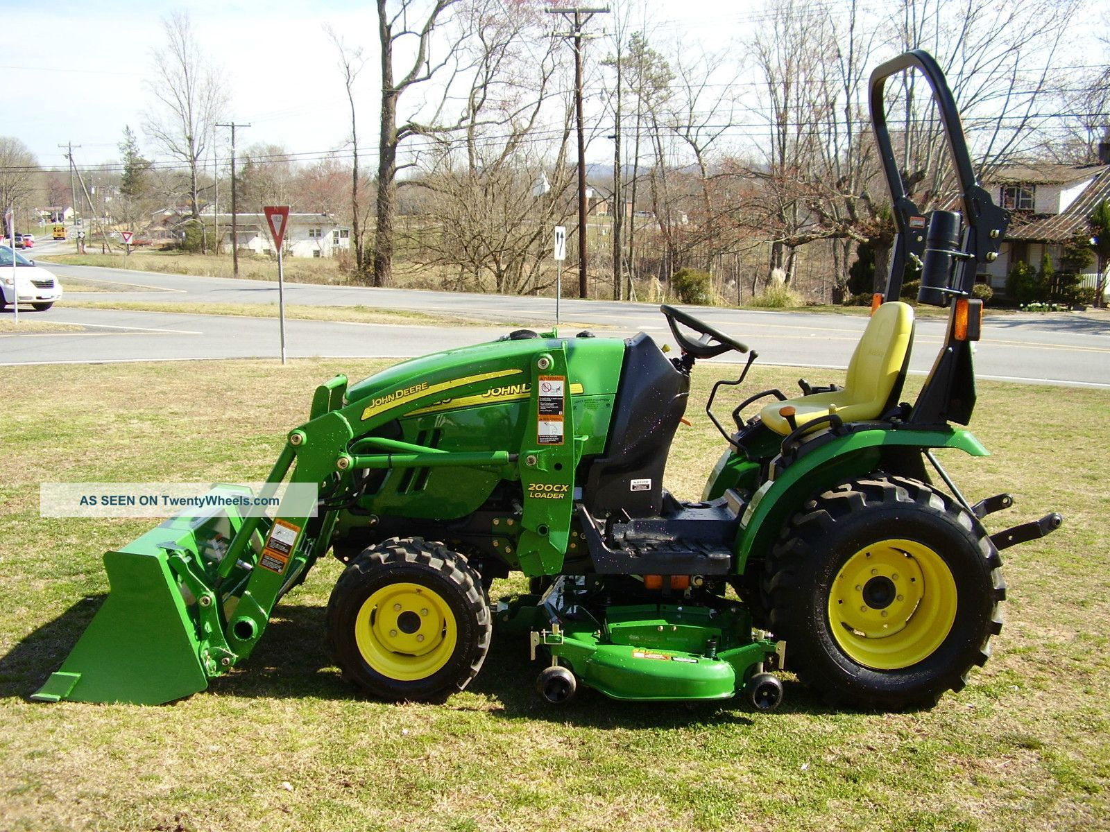 hight resolution of john deere 2320 4x4 loader tractor with mower deck tractors photo