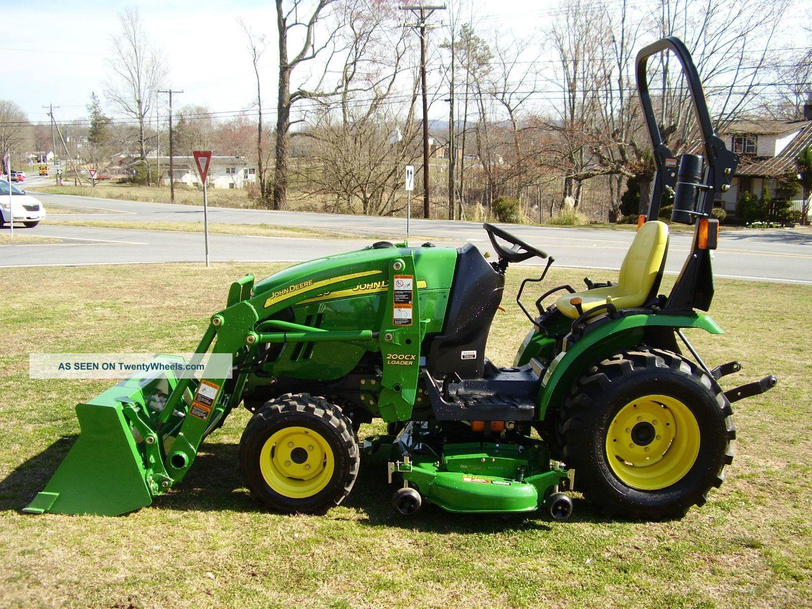 John Deere Garden Tractors 4x4 : John deere loader tractor with mower deck