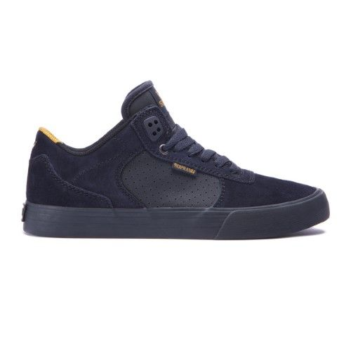 SUPRA Skateboard Shoes ELLINGTON VULC BLACK/AMBER GOLD-BLACK Size 10.5 |  Jet.com
