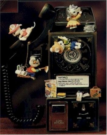 Línea del Partido - Teléfono de paga viejo de moda