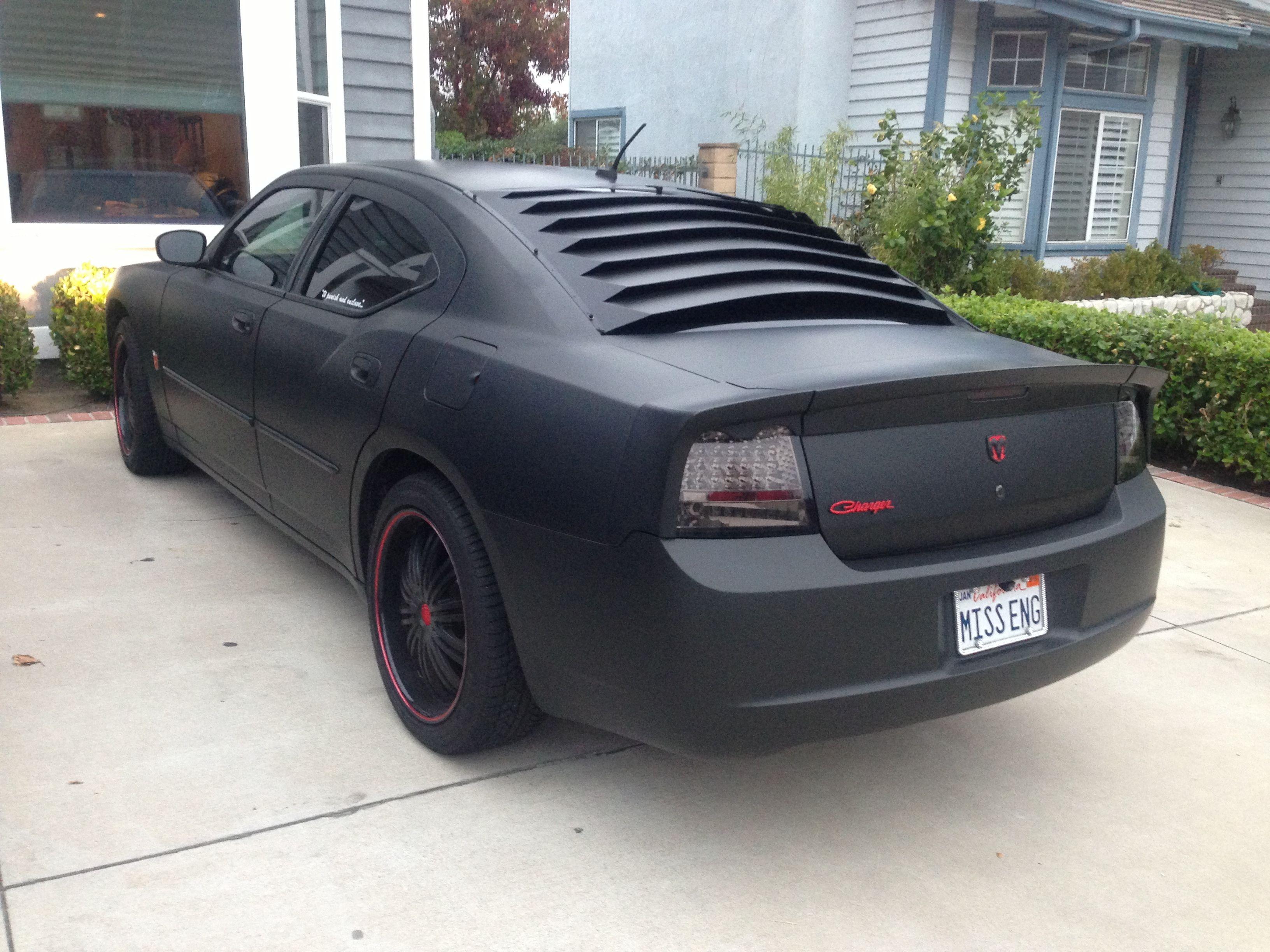 Matte Black Dodge Charger Car Nice Rides Black Dodge Charger