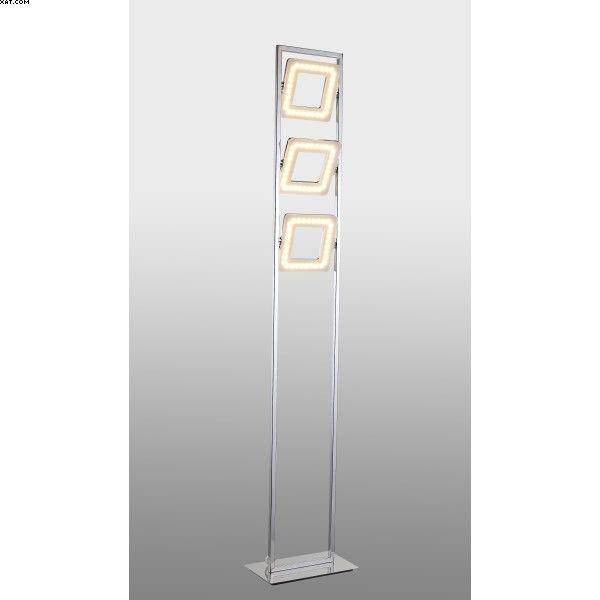 Lampadaire LED finition chrome et acrylique orientable  Éclairage LED intégrée