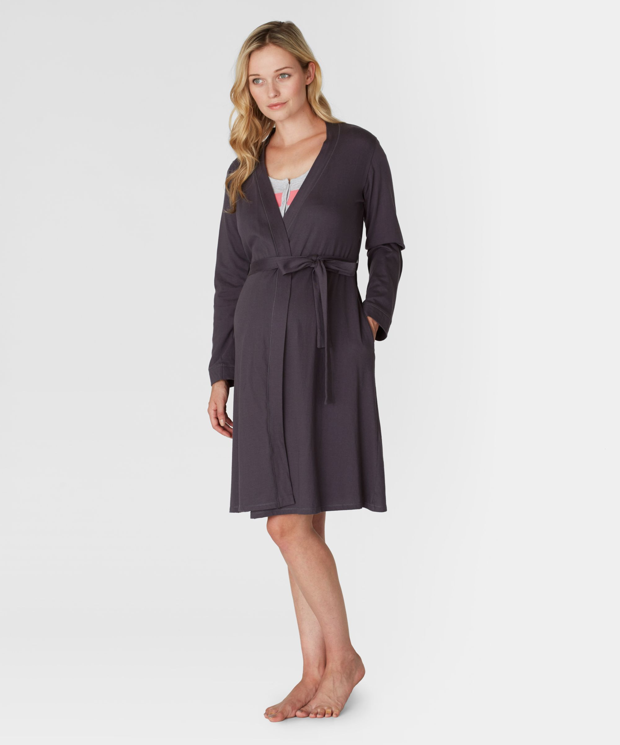 Maternity Charcoal Robe