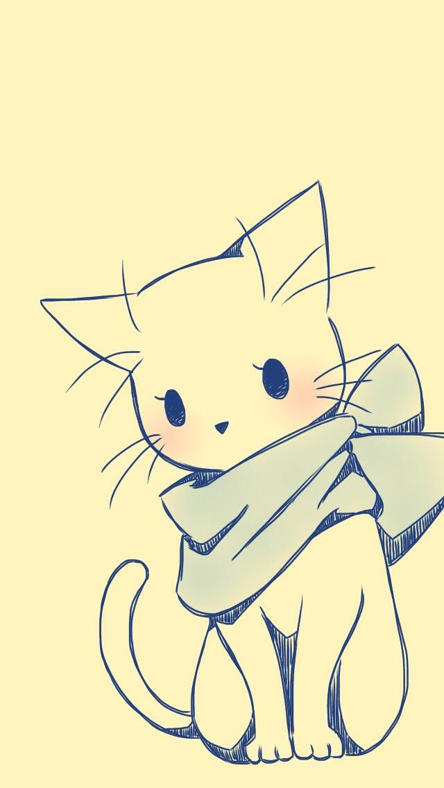Pin by doris r on kawaii cuties dibujos de gatos - Sketch anime wallpaper ...