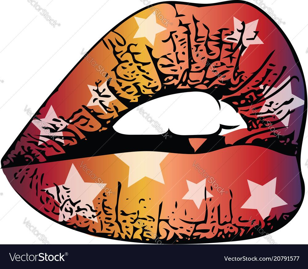 Abstract colorful woman lips vector image on