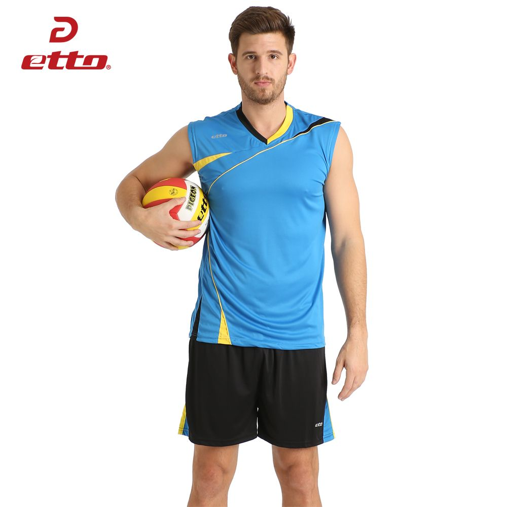 Etto 2017 New Top Quality Volleyball Jerseys Kits Men Professional Jogging Sport Uniform Male Volleyball Jerse Volleyball Jerseys Sport Outfits Sports Uniforms