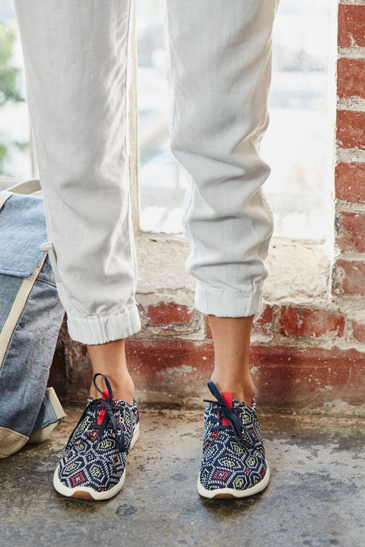 051257007d3 Lace up TOMS Del Rey Sneakers in eye-catching woven prints and textures.