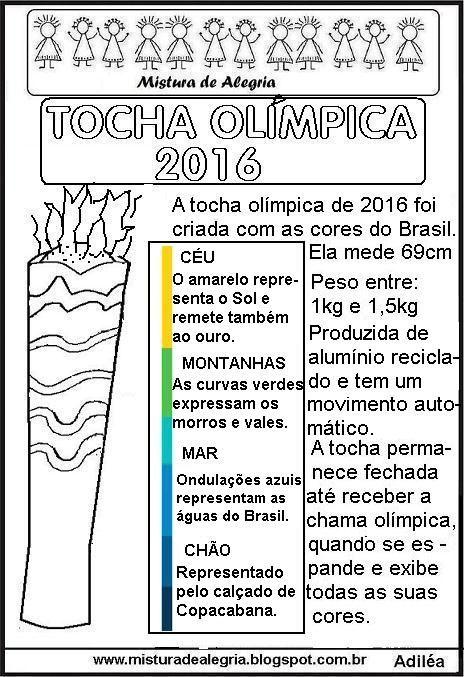 Tocha Olimpica 2016 Texto Imprimir Colorir 281 29 Jpg 464 677