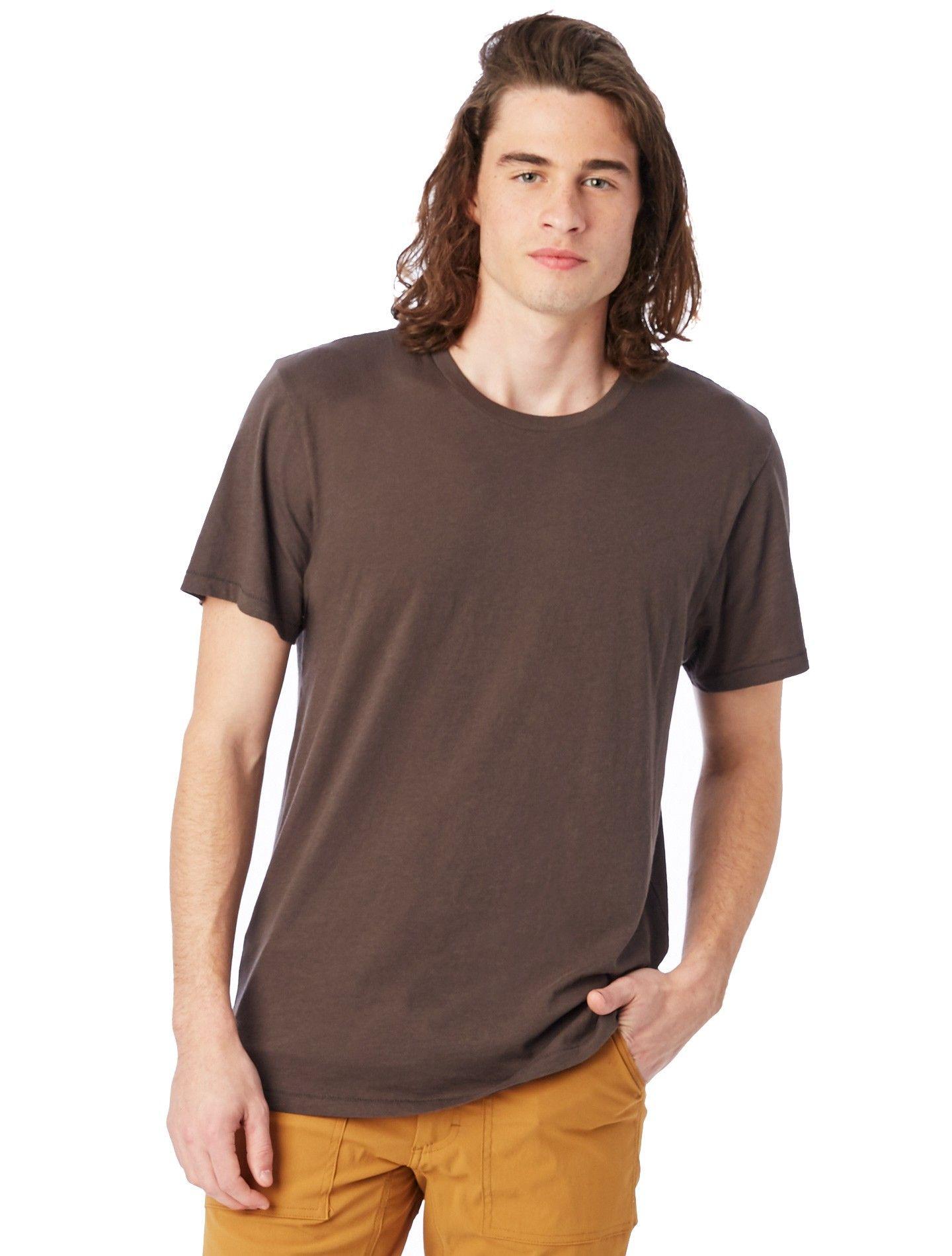 e995d7f708101 Alternative Apparel Organic Cotton Mens Crew T-Shirt - Xxs Earth Natural