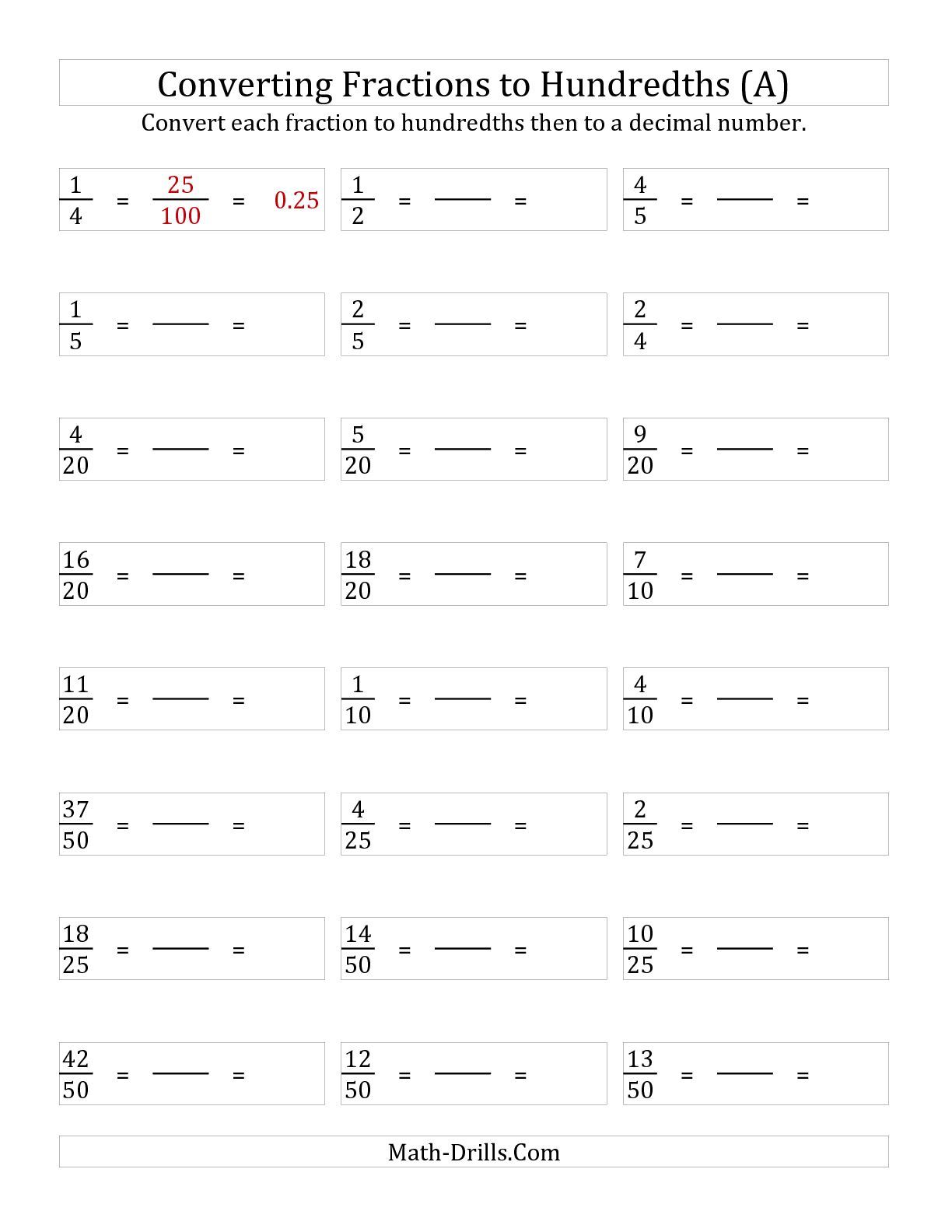 Mathheet For Converting Fractions To Decimals70697 Myscres Decimals Convert Fraction Converting Fractions Fractions To Decimals Worksheet Fraction Lesson Plans
