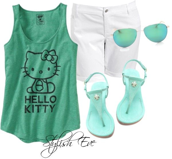 """""""Hello Kitty Casual"""" by stylisheve on Polyvore"""