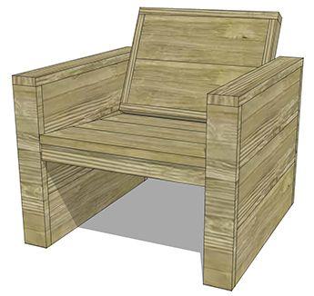 Maak zelf een tuinstoel van steigerhout praxis meubels for Steigerhout praxis