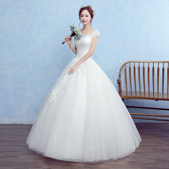 Bride big size pregnant women wedding dress 2017 autumn new Korean ...