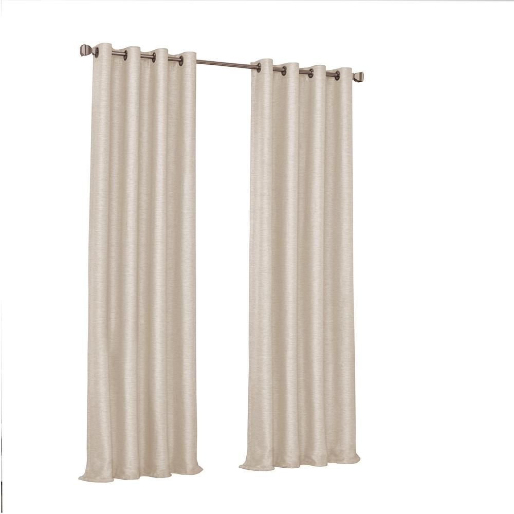 Eclipse Presto Blackout Window Curtain Panel In Ivory 52 In W X 84 In L 16403052084ivy The Home Depot Curtains Panel Curtains Blackout Curtains