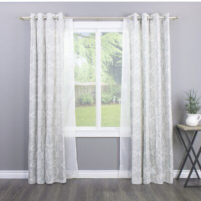 Greyleigh Bloxom Curtain Rod Set Size 72 144 W Finish New Antique Silver Curtains Double Rod Curtains Drapery Rods