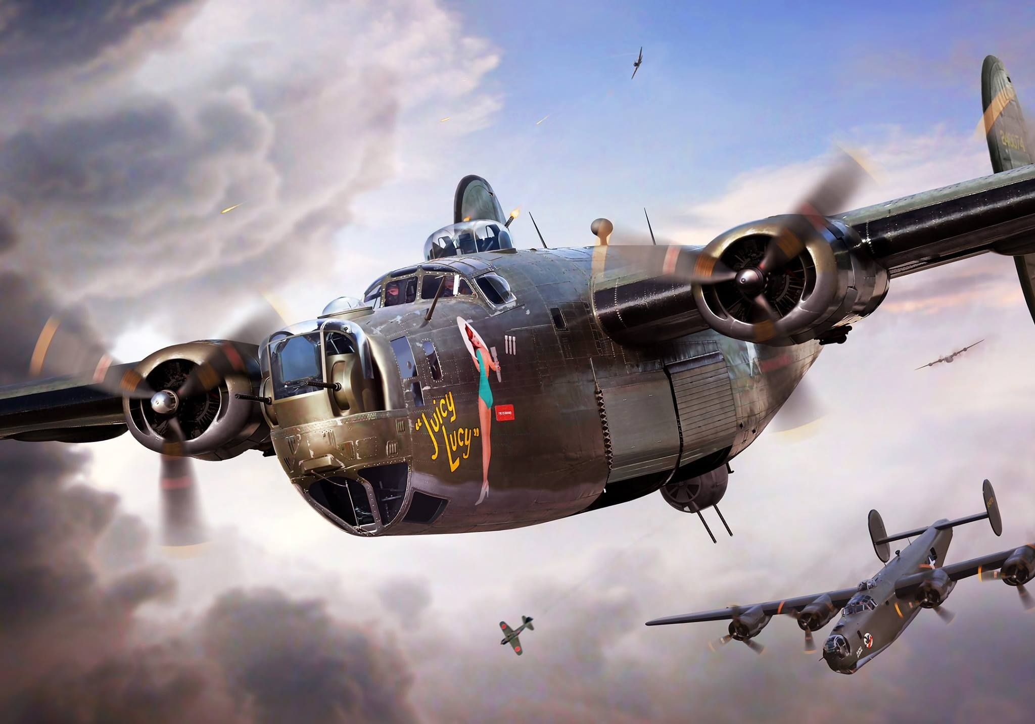 B 24 juicy lucy by ron cole wwii b 17 and b 24 aircraft b 24 juicy lucy by ron cole fandeluxe Gallery