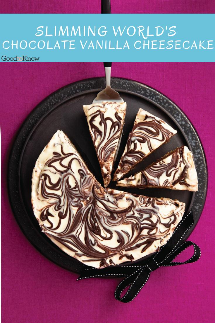 Slimming World's Chocolate Vanilla Cheesecake   Dessert ...