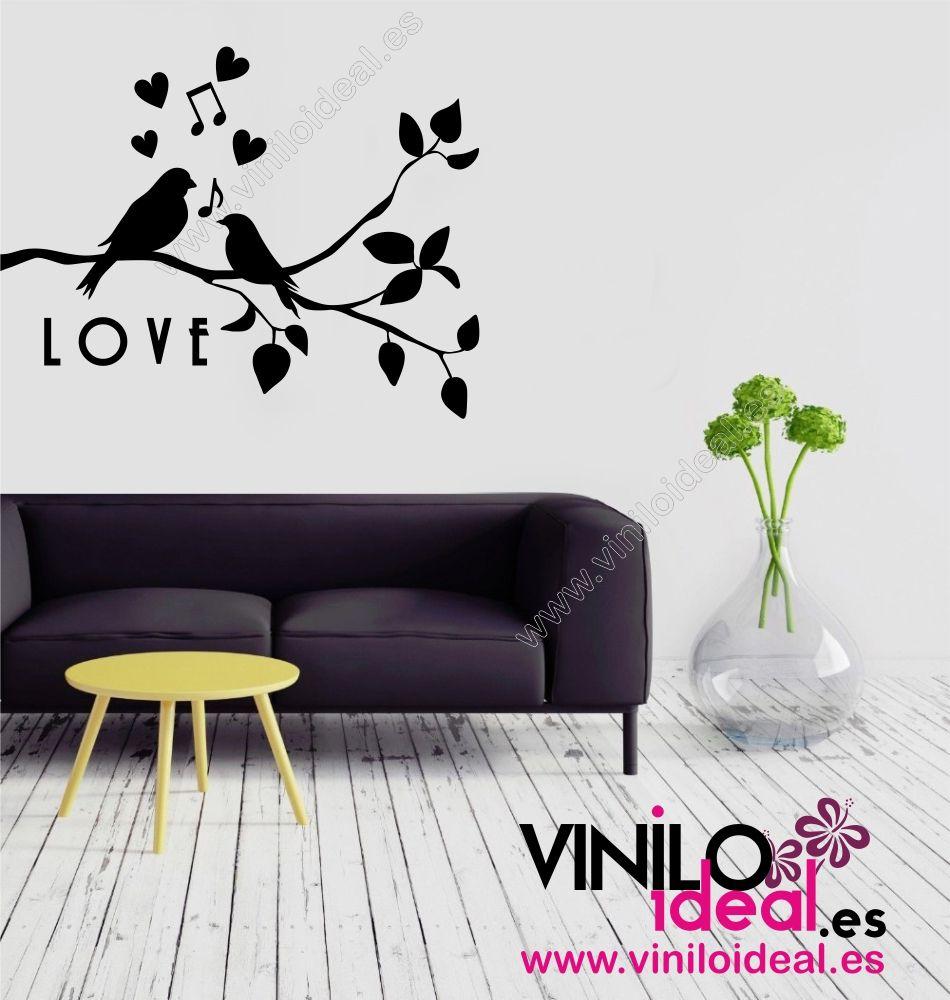 Vinilo decorativo p jaros love vinilos decorativos - Vinilos de pajaros ...