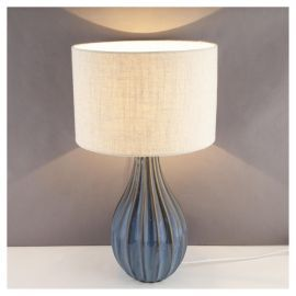 Buy buxton ceramic large table lamp sea blue from our table lamps buy buxton ceramic large table lamp sea blue from our table lamps range tesco mozeypictures Gallery