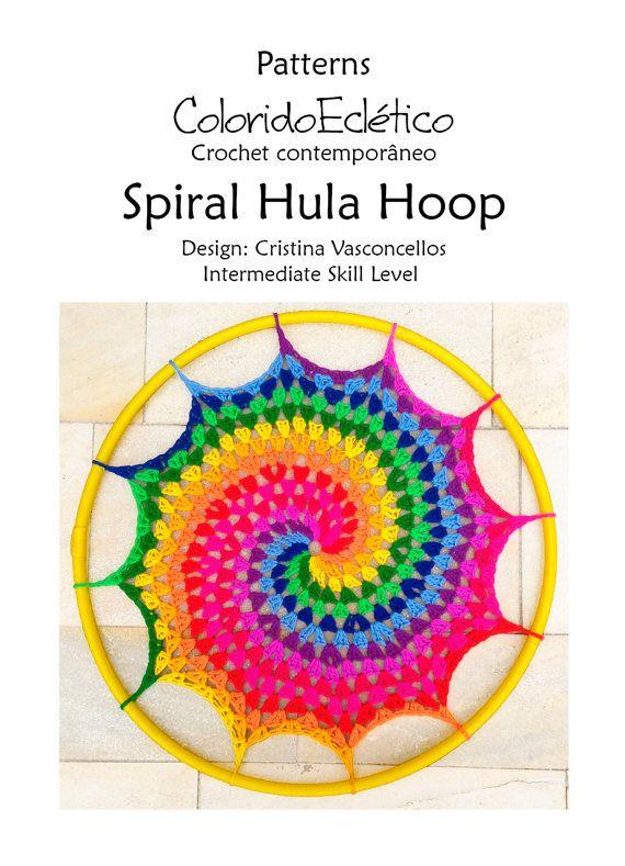 PATTERN - Spiral Hula Hoop | Hula, Espirales y Carta de colores