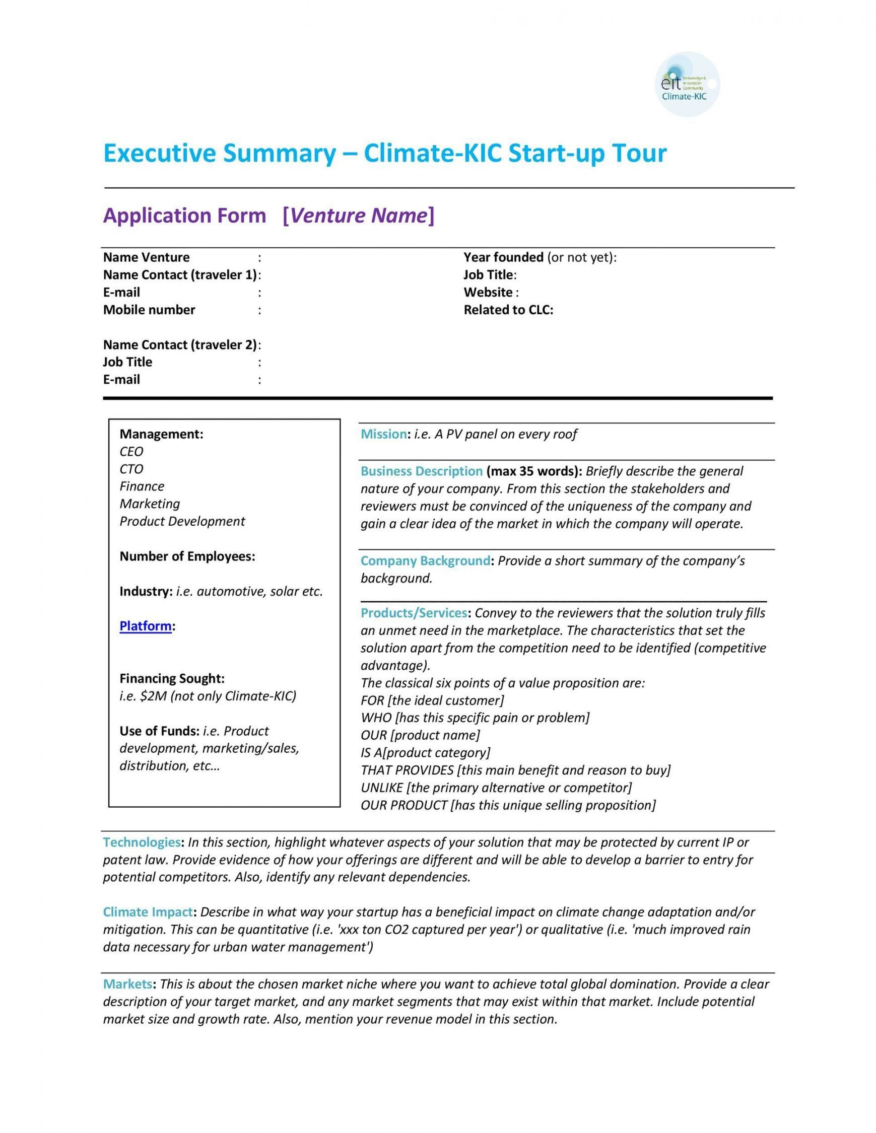 Project Management Summary Template Executive Summary Template Executive Summary Word Template Project management executive summary template
