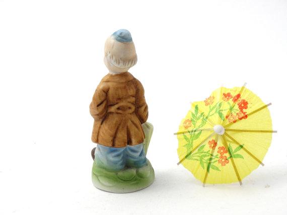 241e60c3f81b4 Ceramic clown figurine - Funny man figurine - Clown decor - Circus ...