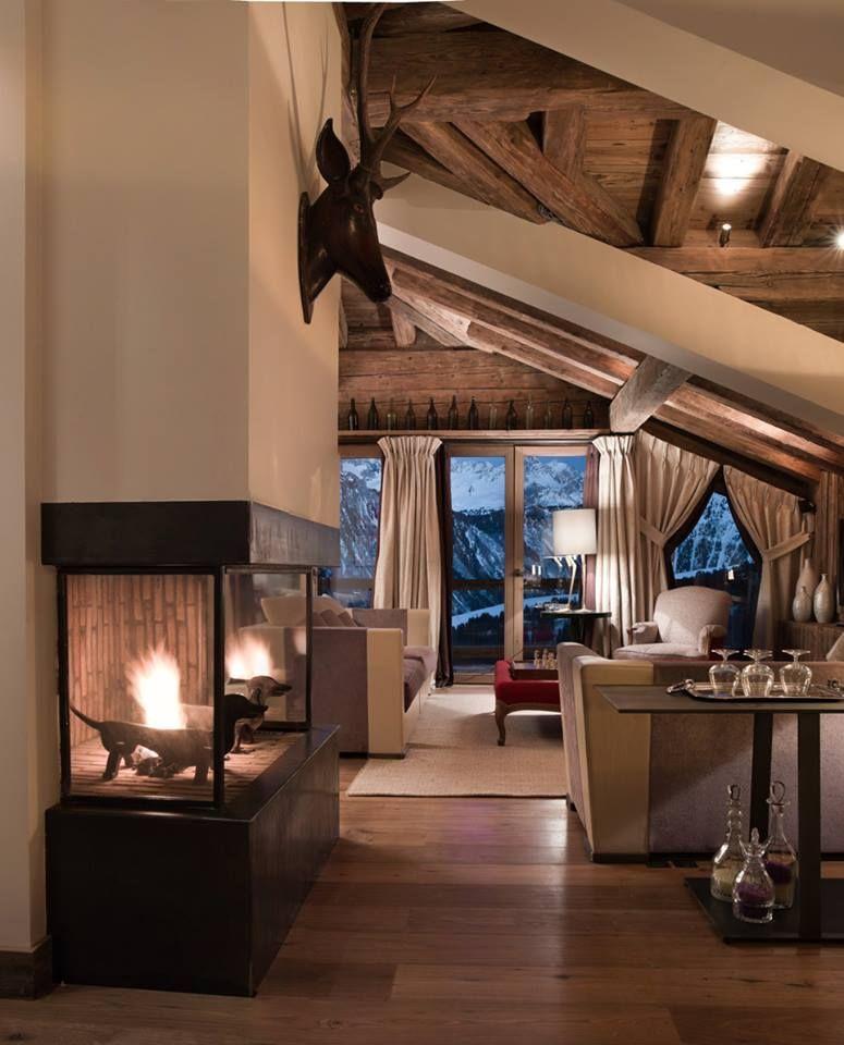 Le charme d\'un chalet à Courchevel 1850 | Pinterest | Haus-Touren ...