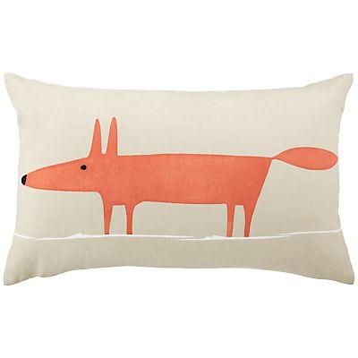 Mr Fox Cuscini.Scion Mr Fox Cushion Yellow Steel Fox Pillow Scion Mr Fox