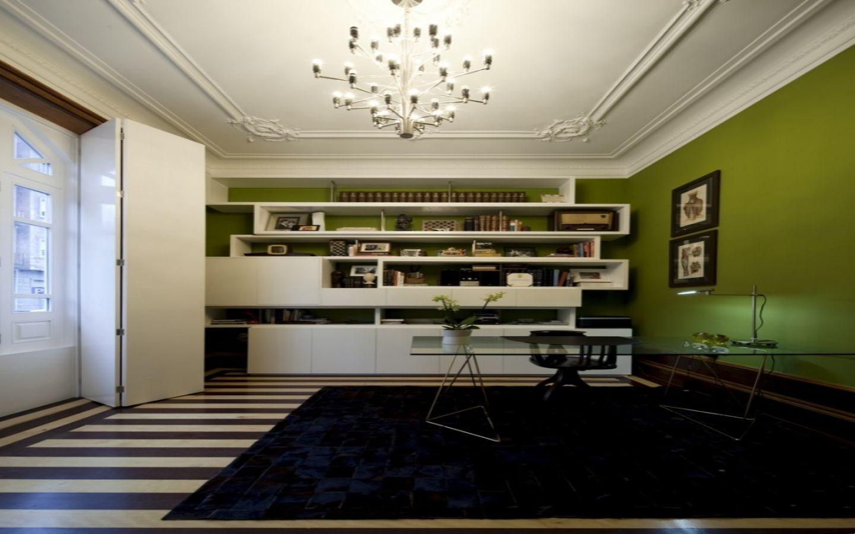 Modern elegant interior decoration home office design feature