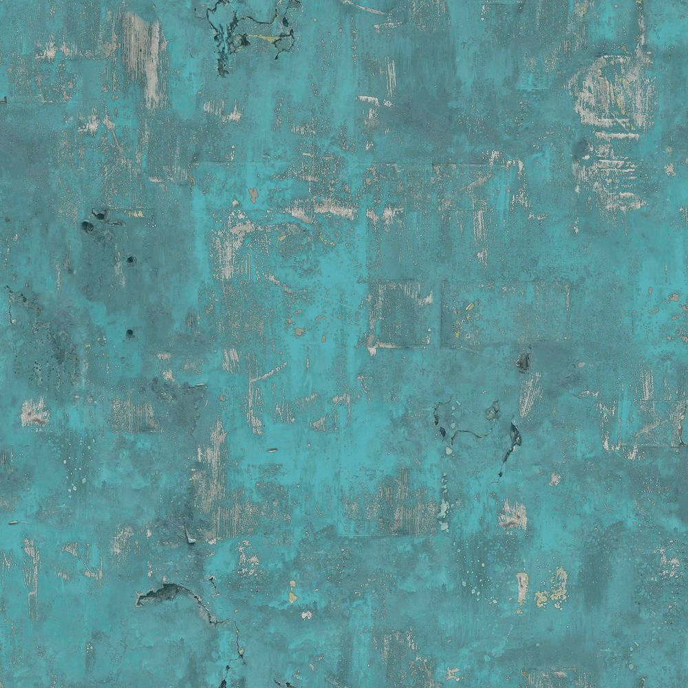 details zu vliestapete beton optik petrol türkis verwittert patina