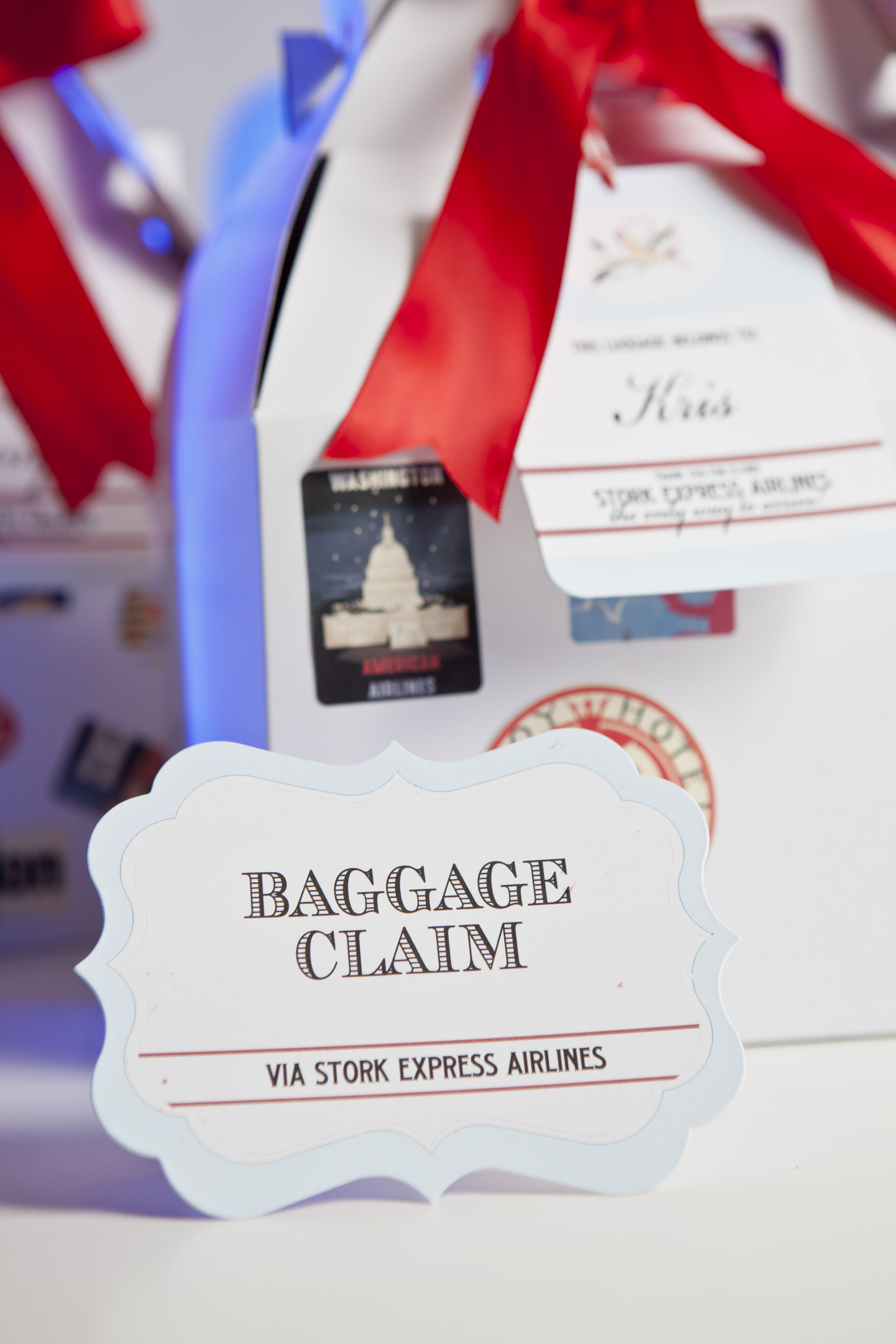 Wrap It Up Parties Vintage Airplane Baby Shower Vintage