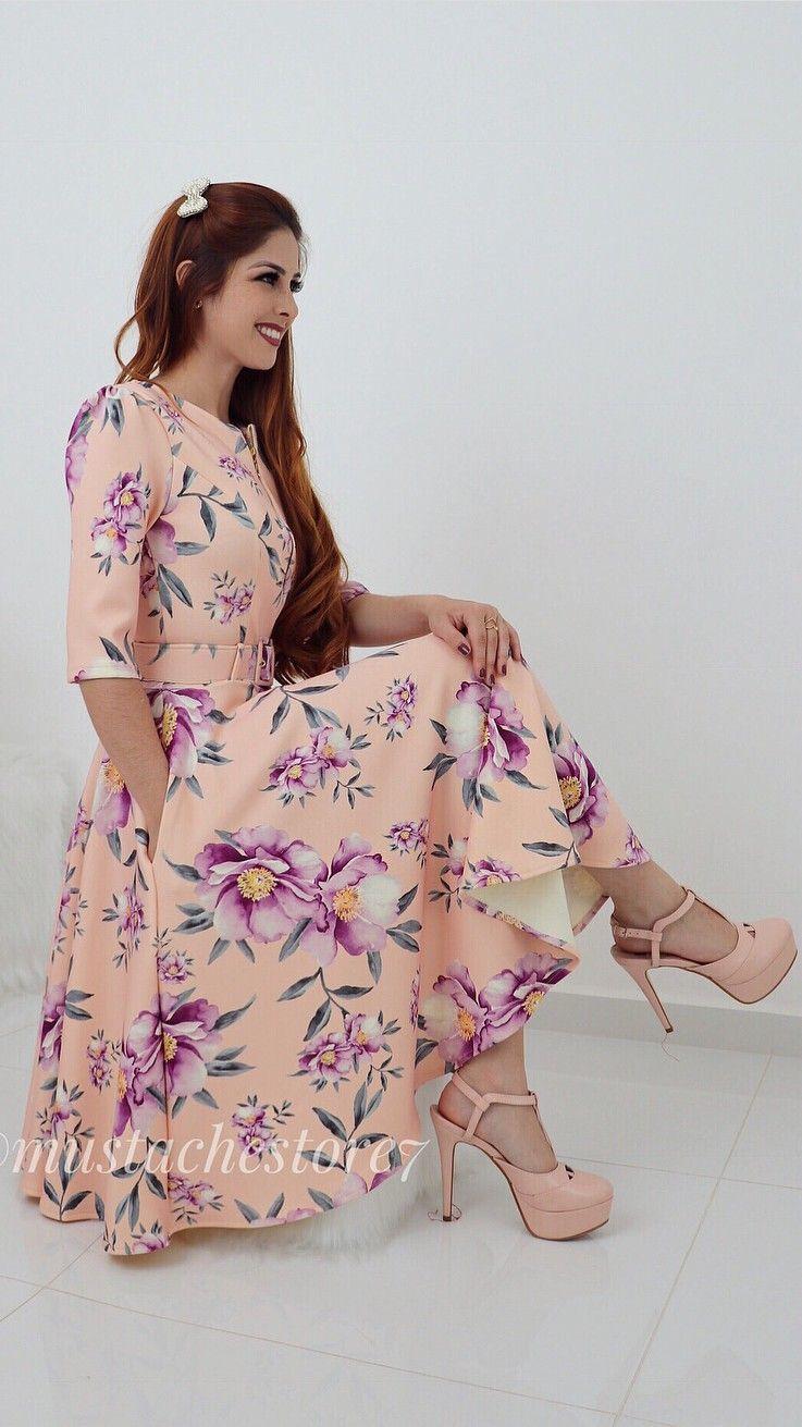 2e0b8f806e mustachestore  dress  vestido  estampa  lindo  rosas  flores  floral ...