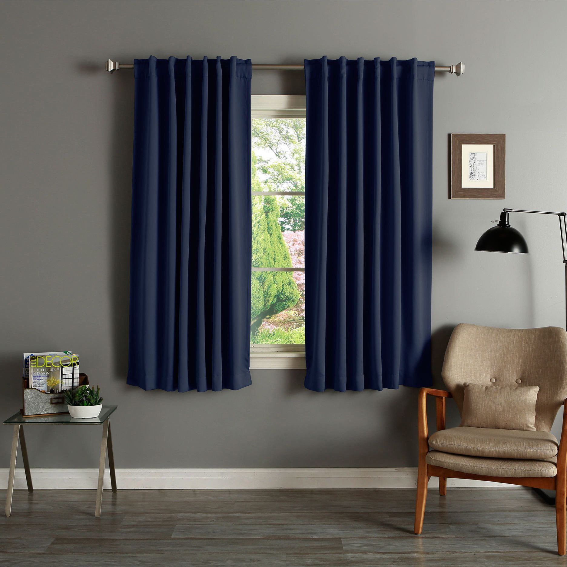 Thermal 63 Inch Blackout Curtain Panel
